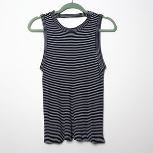 Peyton Jensen | Striped Sleeveless Tee S